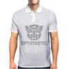 Be optimistic transformers - robot optimus prime movie autobots show tee Mens Polo