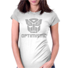 Be optimistic transformers - robot optimus prime movie autobots show tee Womens Fitted T-Shirt