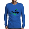 beach crushing green/black Mens Long Sleeve T-Shirt