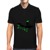 beach crushing green/black Mens Polo