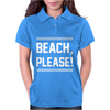 BEACH PLEASE Womens Polo
