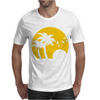 Beach Silhouette Birds Sand Sunset Mens T-Shirt