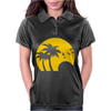 Beach Silhouette Birds Sand Sunset Womens Polo
