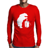 Bear and Beer Keg Mens Long Sleeve T-Shirt