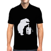 Bear and Beer Keg Mens Polo