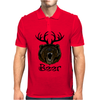 Bear Deer Beer Mens Polo