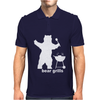 Bear Grills BBQ Funny Mens Polo