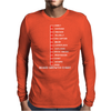 Beard Growth Chart Mens Long Sleeve T-Shirt