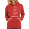 Beard Growth Chart Womens Hoodie