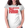 BEARD JUS STARTED Womens Fitted T-Shirt