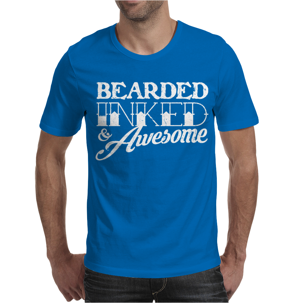 Bearded Inked & Awesome Mens T-Shirt