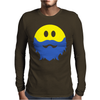 Bearded Smiley Face Mens Long Sleeve T-Shirt