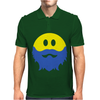 Bearded Smiley Face Mens Polo