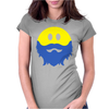 Bearded Smiley Face Womens Fitted T-Shirt