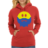 Bearded Smiley Face Womens Hoodie
