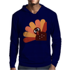 Beautiful Cartoon Turkey Bird for Thanksgiving Mens Hoodie