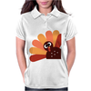 Beautiful Cartoon Turkey Bird for Thanksgiving Womens Polo