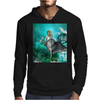 Beautiful mermaid with dolphin Mens Hoodie