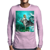 Beautiful mermaid with dolphin Mens Long Sleeve T-Shirt