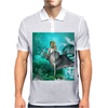 Beautiful mermaid with dolphin Mens Polo