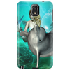 Beautiful mermaid with dolphin Phone Case