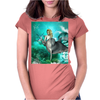 Beautiful mermaid with dolphin Womens Fitted T-Shirt