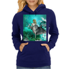 Beautiful mermaid with dolphin Womens Hoodie