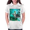 Beautiful mermaid with dolphin Womens Polo