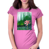 Bedraggled pink Womens Fitted T-Shirt