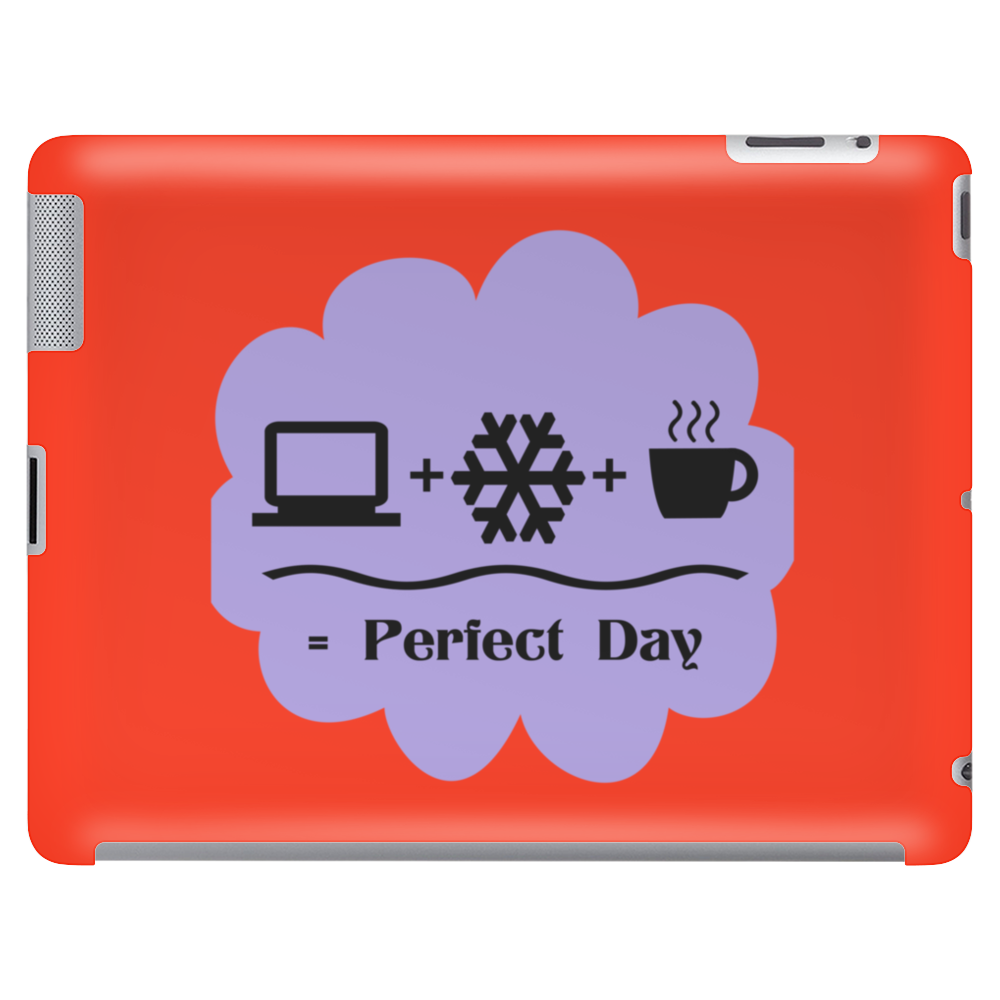 Bedroom Wall Art Computer Snow Coffee Perfect Day Typography Winter Funny Humor Geek Tablet