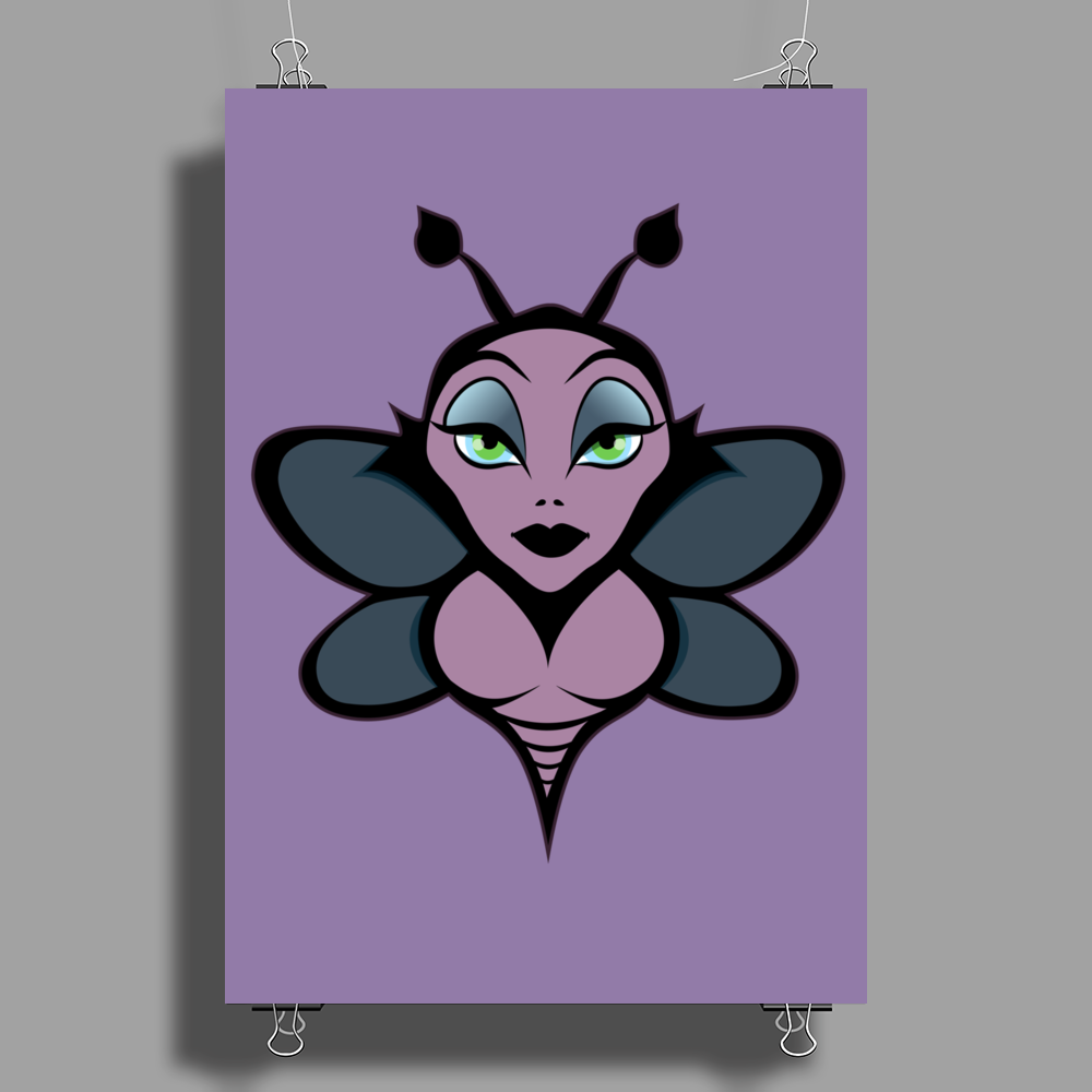 Bee with sting. Poster Print (Portrait)