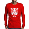 Beer Belly Xray Skeleton Funny Mens Long Sleeve T-Shirt