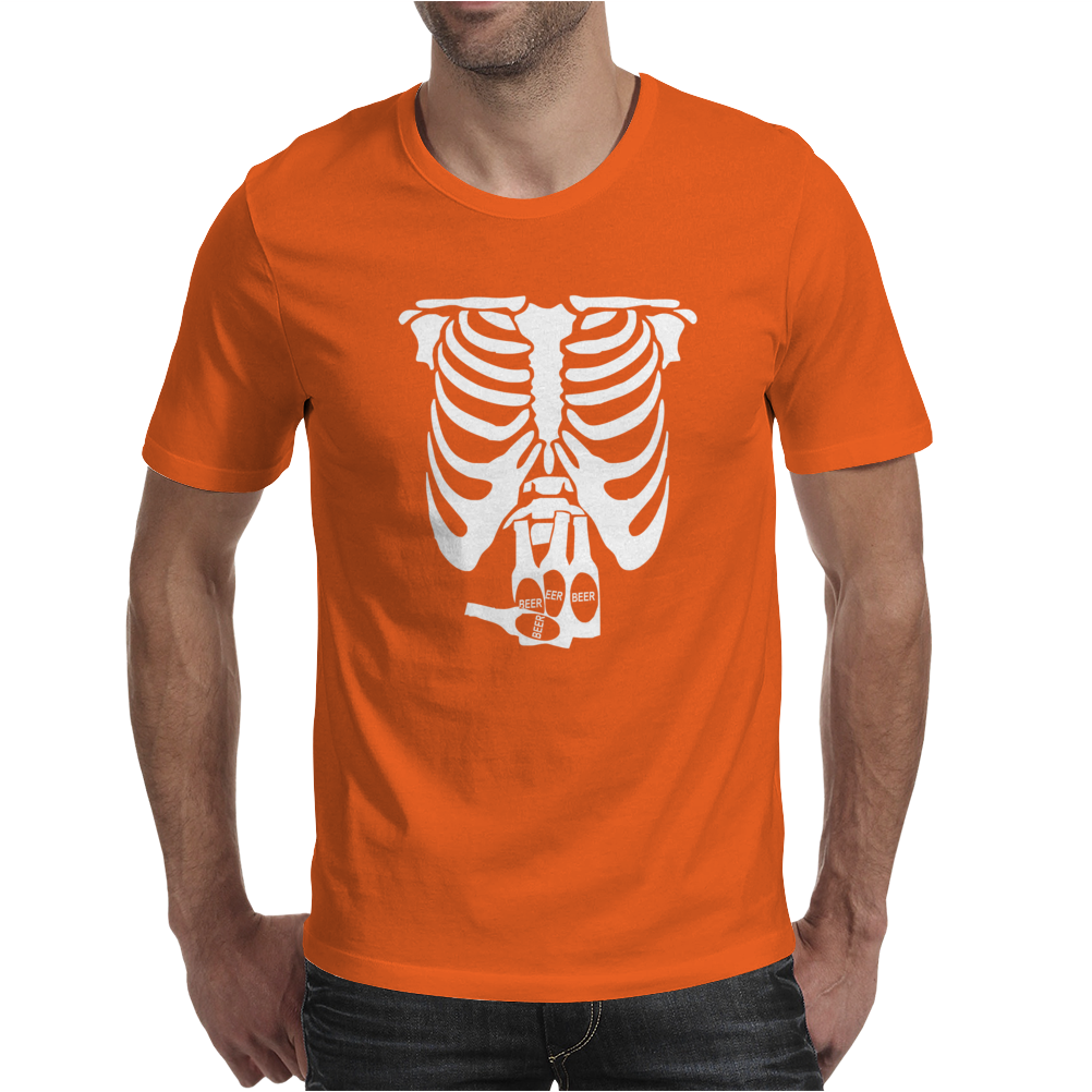Beer Belly Xray Skeleton Funny Mens T-Shirt