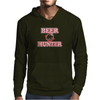 Beer Hunter Funny Humor Geek Mens Hoodie
