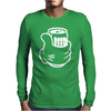 Beer in Hand Drunk Alcohol Funny Mens Long Sleeve T-Shirt