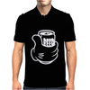 Beer in Hand Drunk Alcohol Funny Mens Polo