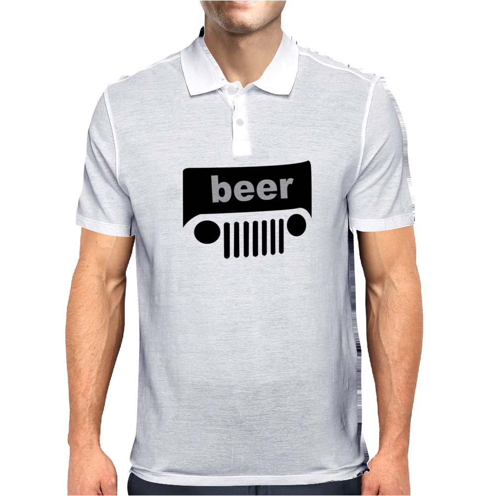 BEER JEEP FUNNY Trucker cap hat Funny Humor Geek Mens Polo