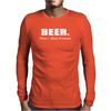 Beer Man's Best Friend Funny Humor Geek Mens Long Sleeve T-Shirt