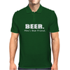 Beer Man's Best Friend Funny Humor Geek Mens Polo