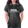 Beer Man's Best Friend Funny Humor Geek Womens Polo