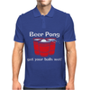 BEER PONG CHAMPION DRINKING GAME Mens Polo