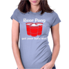 BEER PONG CHAMPION DRINKING GAME Womens Fitted T-Shirt