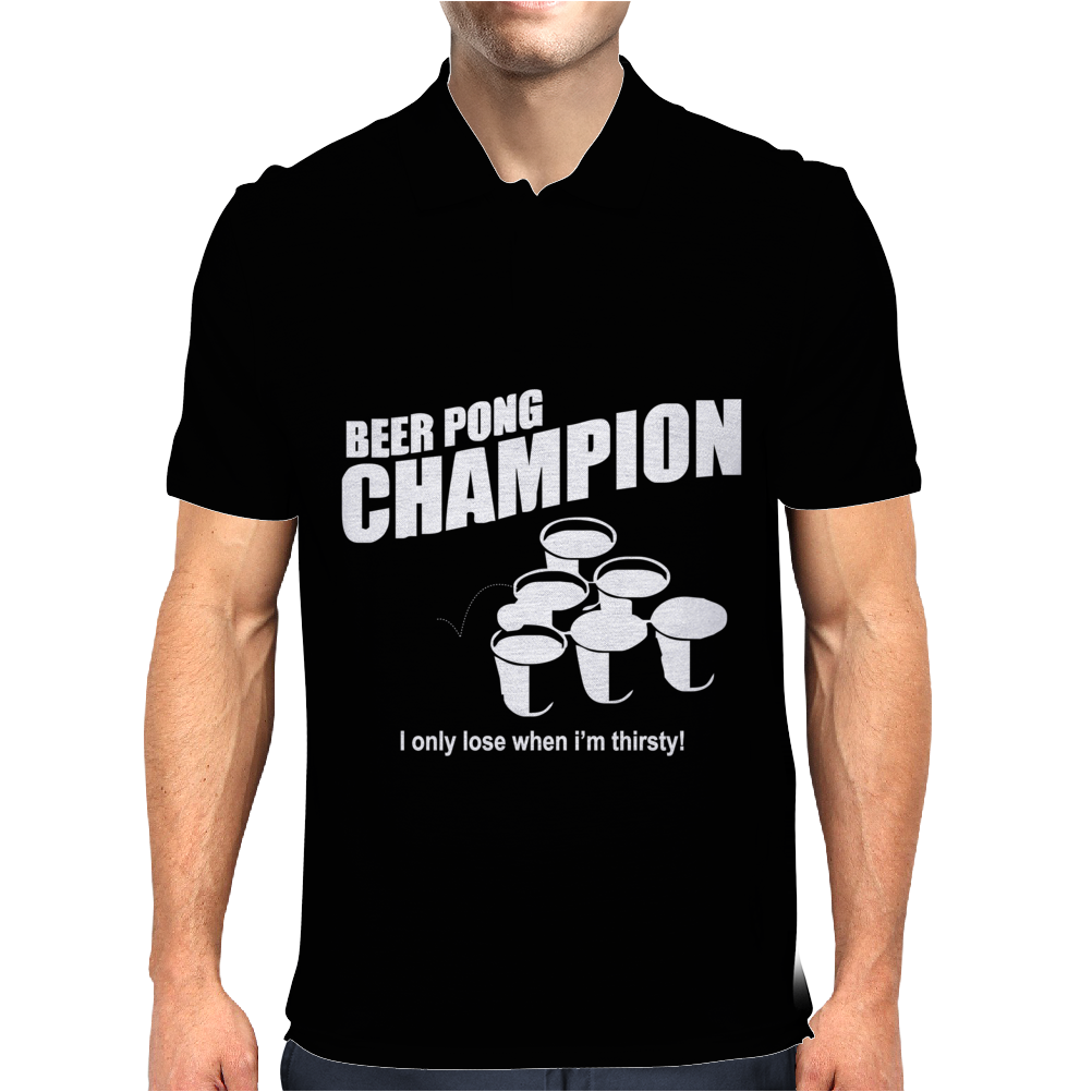 Beer Pong Champion Mens Polo