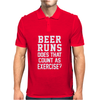 Beer Runs Does That Count As Exercise Funny Mens Polo