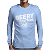Beery Christmas Hops Drinking Beer Funny Mens Long Sleeve T-Shirt