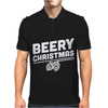 Beery Christmas Hops Drinking Beer Funny Mens Polo
