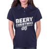 Beery Christmas Hops Drinking Beer Funny Womens Polo