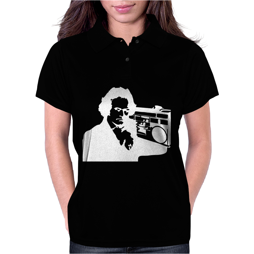 Beethoven Ghetto Blaster Womens Polo