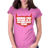 Behind Beard Is A Handsome Man Womens Fitted T-Shirt