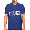 Believe Big Foot Sasquatch Bigfoot Mens Polo